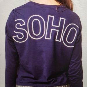 Tilly's Full Tilt Long Sleeve Cropped SOHO Tee